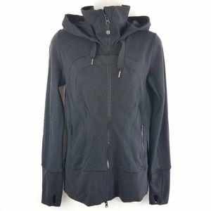 Womens Lululemon Black Stride Hooded Jacket Size 6